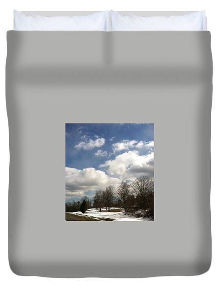 A Scenic Winter Duvet Cover