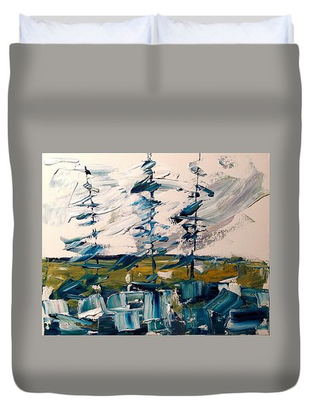 A Scrape Of Pines Duvet Cover