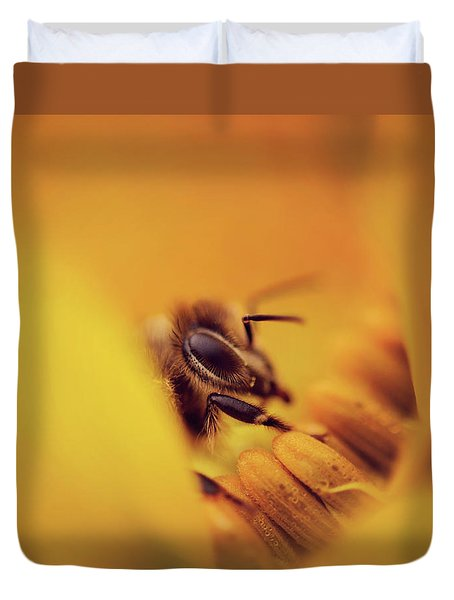 A Sea Of Yellow Duvet Cover