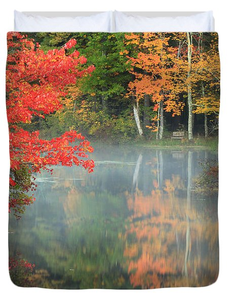 A Seat To Watch Autumn Duvet Cover