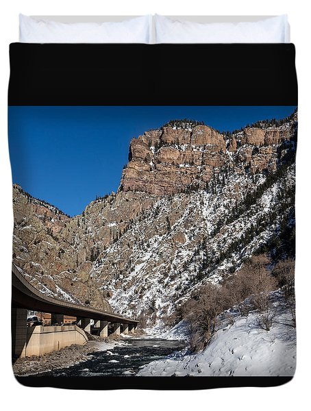 A Section Of The World-famous Glenwood Viaduct Duvet Cover by Carol M Highsmith