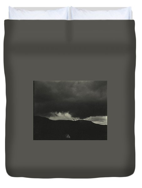 A Sequence Of Ten Cloud Photographs Duvet Cover