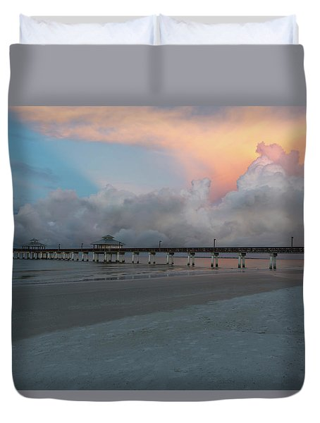 Duvet Cover featuring the photograph A Serene Morning by Kim Hojnacki