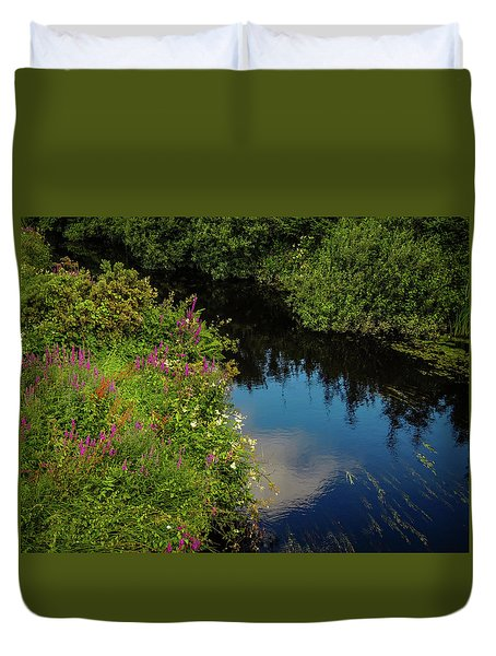 Duvet Cover featuring the photograph A Serene Scene In The Magical Irish Countryside by James Truett