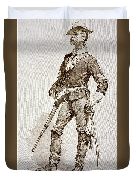 A Sergeant Of The Us Cavalry Duvet Cover
