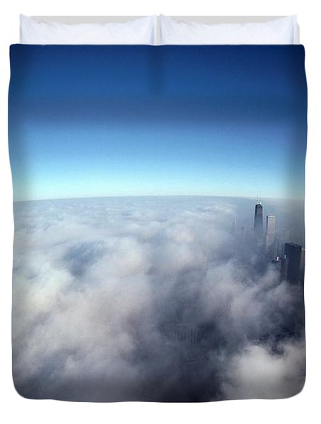 A Shadow Of The Sears Tower Slants Duvet Cover