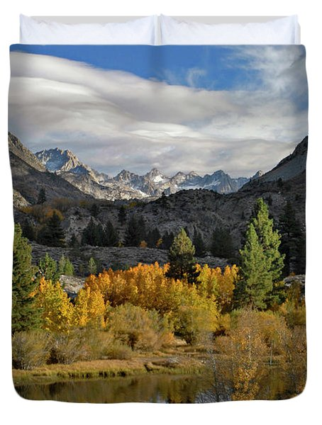 A Sierra Mountain View Duvet Cover