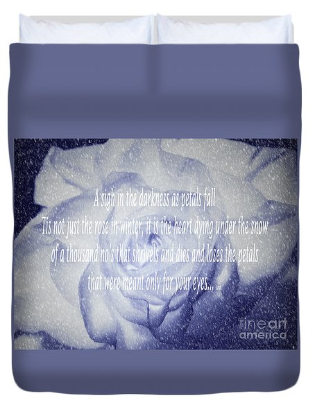 A Sigh In The Darkness Duvet Cover
