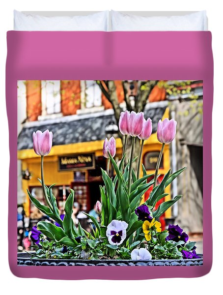 A Sign Of Spring Duvet Cover