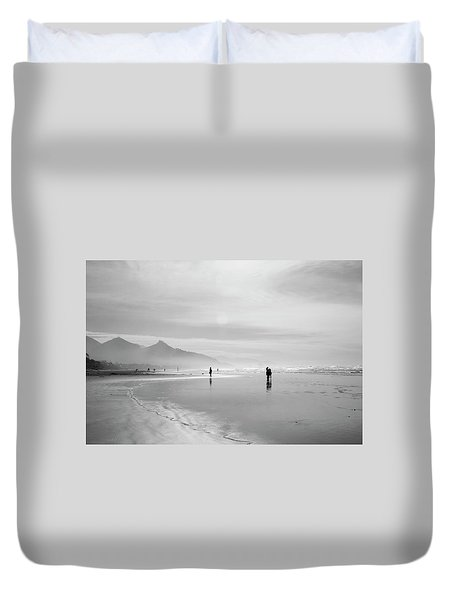 A Silver Day On The Beach Duvet Cover by Dan Dooley
