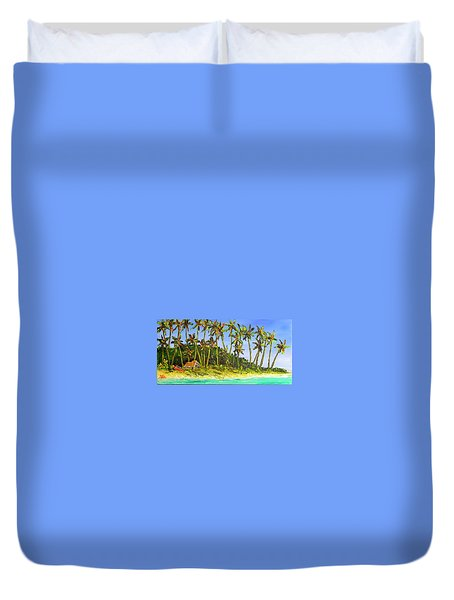 A Simple Life#374 Duvet Cover by Donald k Hall