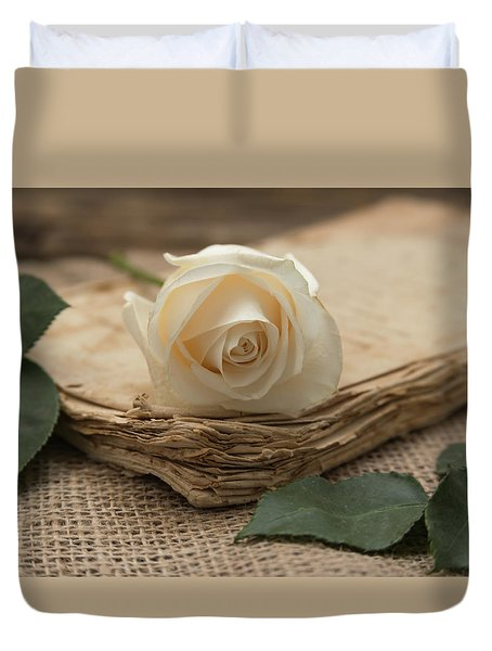 Duvet Cover featuring the photograph A Simple Time by Kim Hojnacki