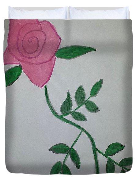 A Single Red Rose Duvet Cover