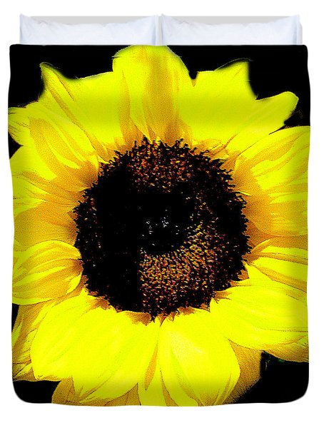 A Single Sunflower Duvet Cover