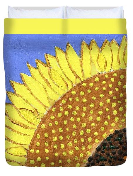 A Slice Of Sunflower Duvet Cover