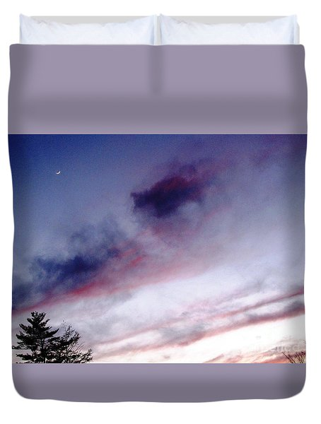 A Sliver Of Moon Duvet Cover