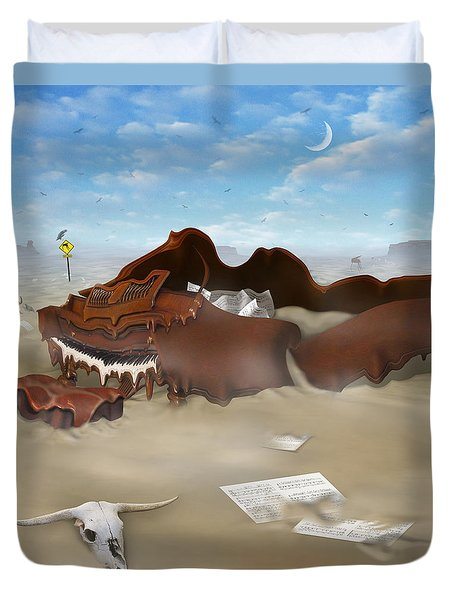 A Slow Death In Piano Valley Sq Duvet Cover