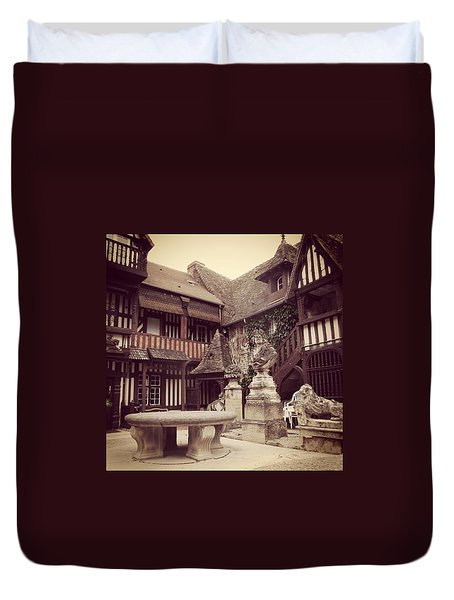 Courtyard Cliche Duvet Cover