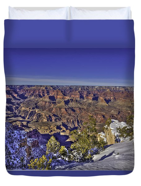 A Snowy Grand Canyon Duvet Cover