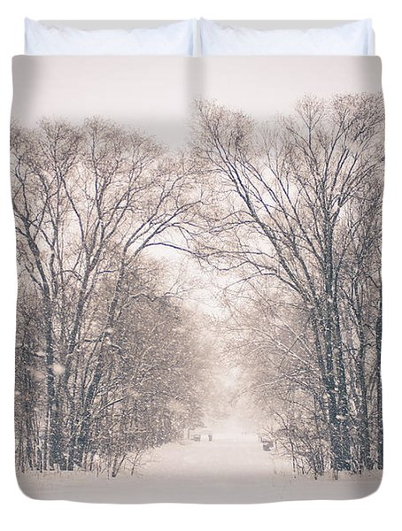 A Snowy Monday Duvet Cover