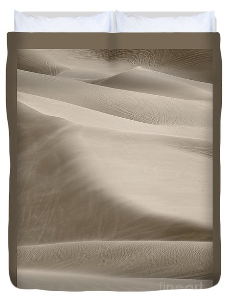 Duvet Cover featuring the photograph A Soft Oasis  by Suzanne Oesterling