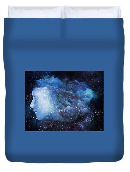 Duvet Cover featuring the digital art A Soul In The Sky by Gun Legler