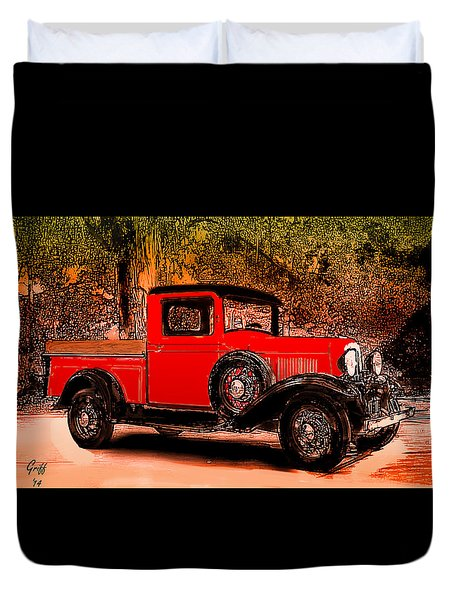 A Southern Ford Duvet Cover by J Griff Griffin