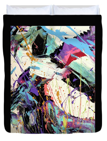 A Space Of Possibles Abstract Duvet Cover by Erika Pochybova
