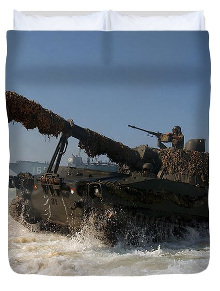 A Spanish Army M109a5 155mm Duvet Cover by Stocktrek Images