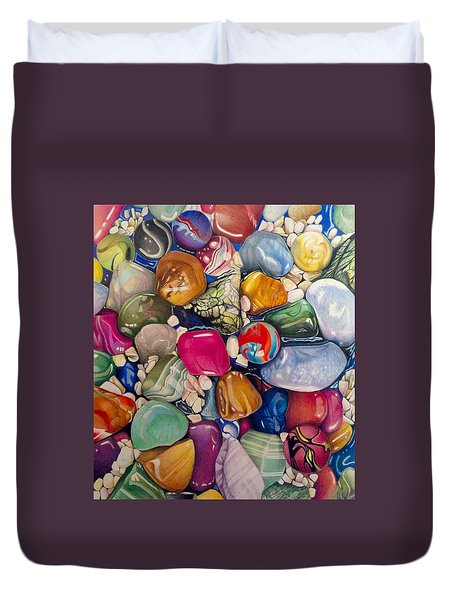 A Splash Of Color And Hardness Duvet Cover