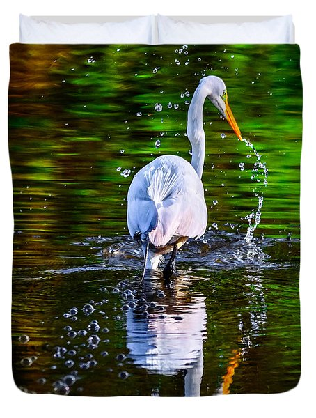 Duvet Cover featuring the photograph A Splash Of Color by Brian Stevens