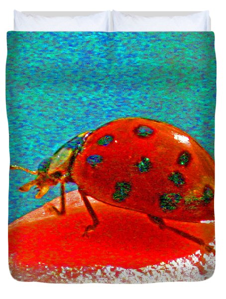 A Spring Lady Bug Duvet Cover