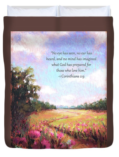 A Spring To Remember With Bible Verse Duvet Cover
