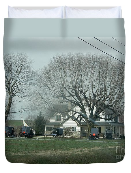 A Springtime Gathering Duvet Cover