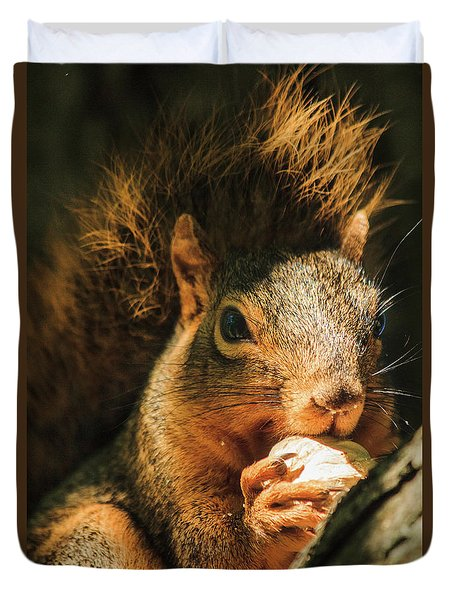 A Squirrel And His Nut Duvet Cover