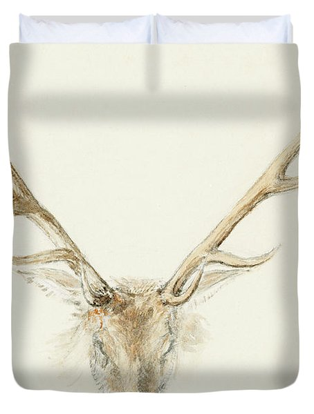 A Stag Shot By John Brown Duvet Cover