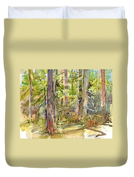 A Stand Of Trees Duvet Cover