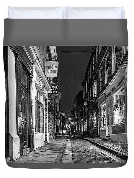 A Step Back In Time Duvet Cover by David  Hollingworth