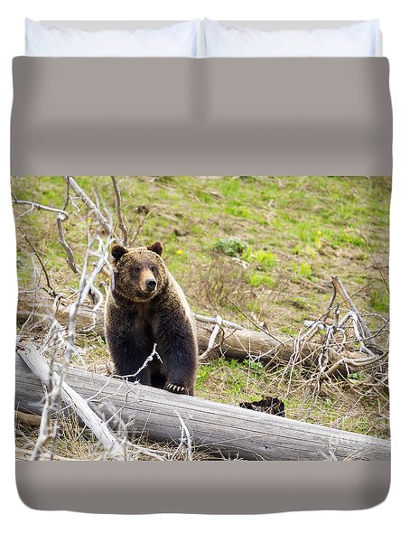 Duvet Cover featuring the photograph Over It by Aaron Whittemore