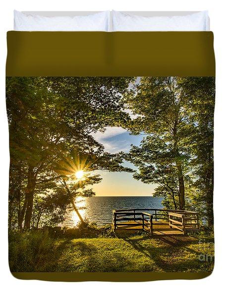 A Sterling Sunset Duvet Cover