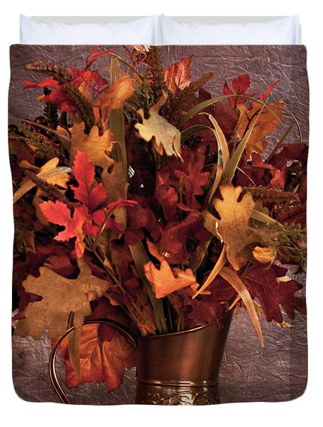 A Still Life For Autumn Duvet Cover by Sherry Hallemeier