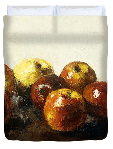 A Still Life Of Apples Duvet Cover by Lesser Ury