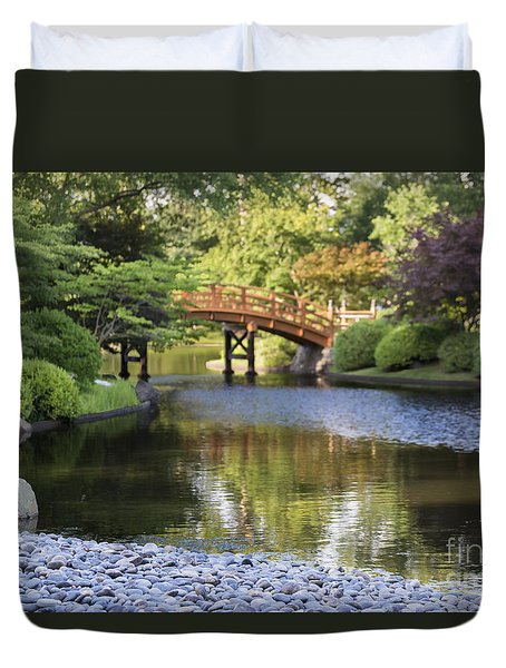 Duvet Cover featuring the photograph A Stone's Throw Away by Andrea Silies