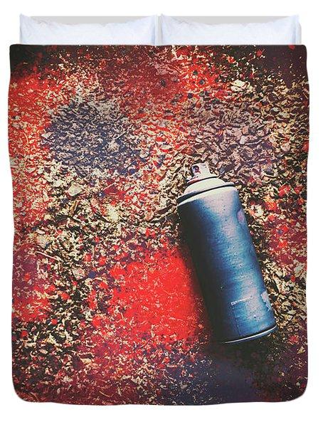 A Street Art Composition Duvet Cover