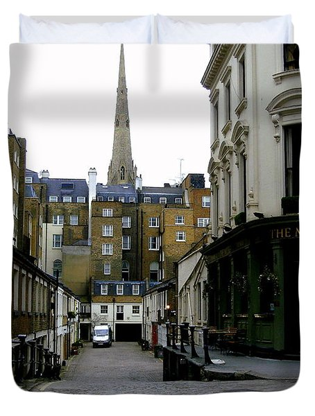 A Street In London Duvet Cover by Mindy Newman