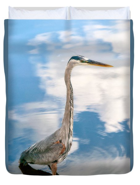 Duvet Cover featuring the photograph A Stroll Among The Clouds by Christopher Holmes