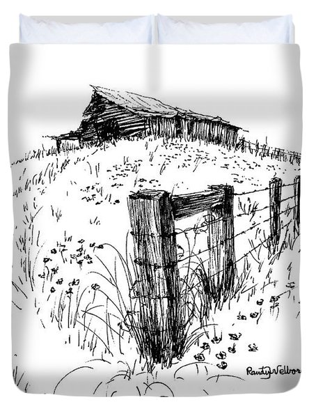 A Strong Fence And Weak Barn Duvet Cover