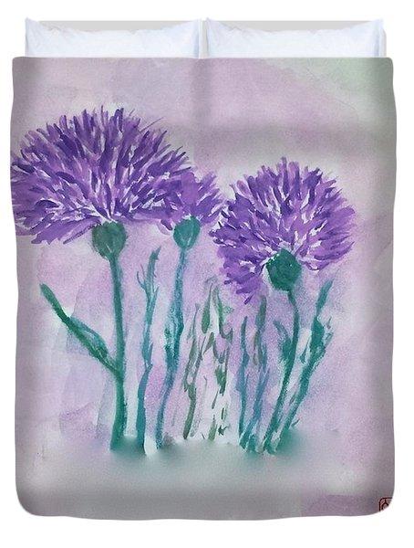 A Study In Purple Duvet Cover