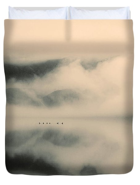 A Study Of Clouds Duvet Cover by Tara Turner