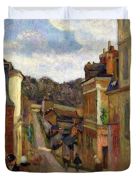 A Suburban Street Duvet Cover by Paul Gauguin
